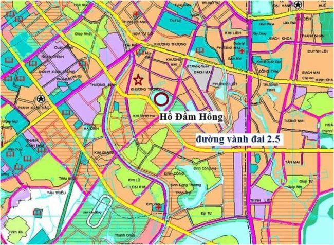 Quy hoạch chi tiết dự án đường 2.5 - thành phố Hà Nội