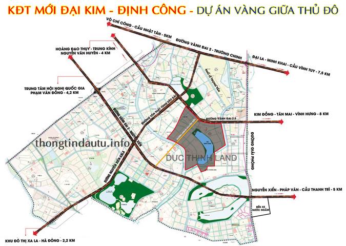 Dự án KĐT mới Đại Kim - Định Công rộng 109ha với nhiều lợi thế vượt trội