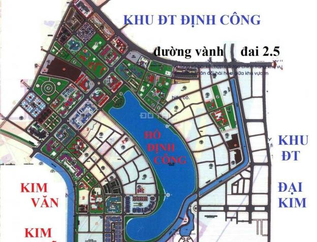 Bao quanh dự án là các KĐT Kim Văn - Kim Lũ, Đại Kim, Định Công, tập trung đông dân cư