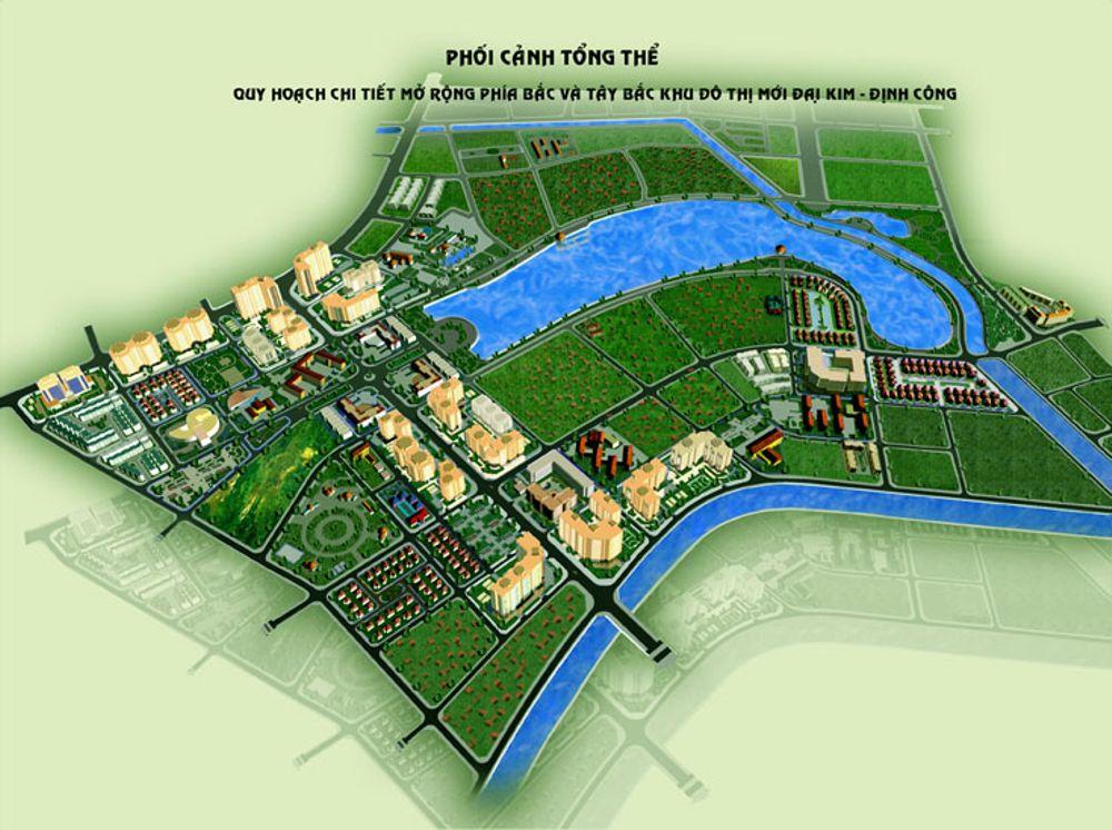 Bối cảnh tổng thể dự án KĐT mới Đại Kim - Định Công rộng 109ha