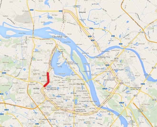 Quy hoạch tổng thể dựa trên dự án vành đai 2,5 giúp mở rộng tuyến đường, lưu thông các tuyến giao thông trọng điểm