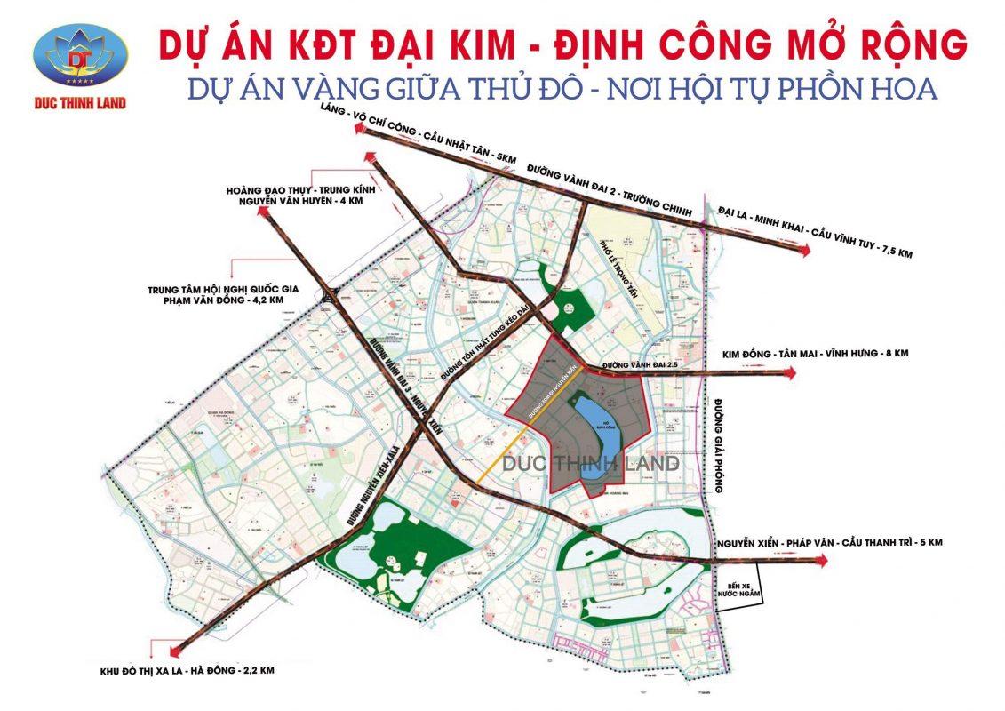 Dự án KĐT mới Đại Kim Định Công được tiến hành song song với dự án đường vành đai 2.5