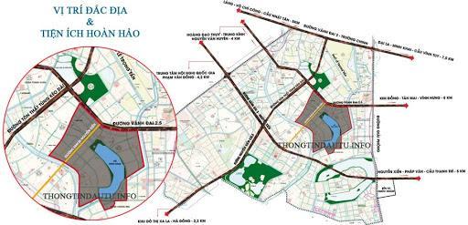 Dự án KĐT mới Đại Kim - Định Công nằm ở vị trí huyết mạch