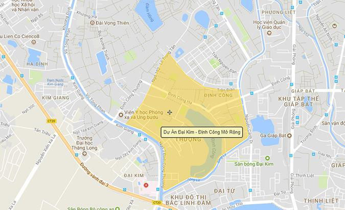 Dự án KĐT Đại Kim-Định Công theo hợp đồng BT