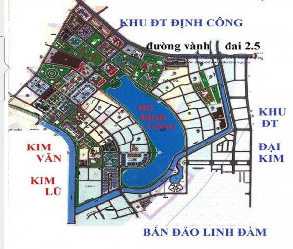 Dự án tại KĐT mới được mở rộng về hướng Bắc và Tây Bắc Đại Kim-Định Công