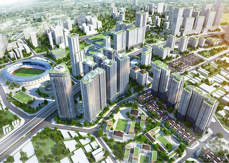 Thiết kế khu đô thị Định Công mở rộng