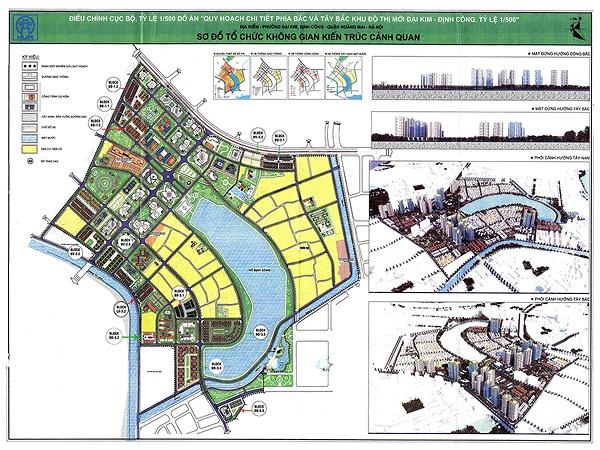 Phê Duyệt Nhiệm Vụ Điều Chỉnh Quy Hoạch Tổng Thể Dự án Đại Kim Định Công rộng 109ha